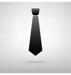 Tie black icon vector