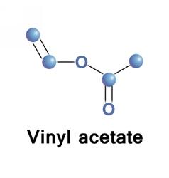 Vinyl acetate molecule vector