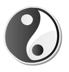 yin yang symbol of harmony and balance sticker vector image