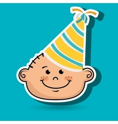 Boy party hat cartoon vector