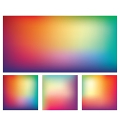 Set of Colorful Gradient Backgrounds vector image