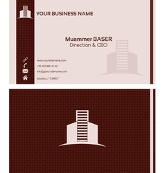 Real estate business card front and back vector image