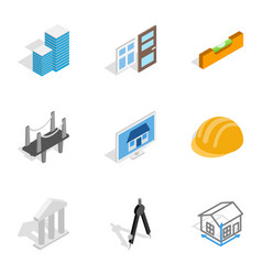 engineering and construction icons vector image