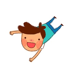 Cartoon boy jumping vector