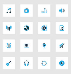 Music colorful icons set collection of volume vector