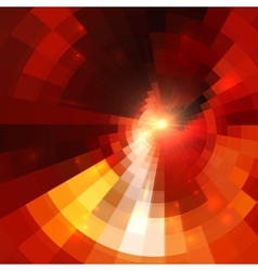 Red abstract circle mosaic background vector image