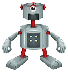 A grey robot vector