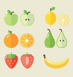 Fruit set i vector