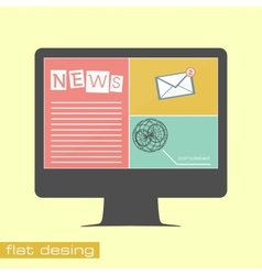 Business concept flat icons vector image