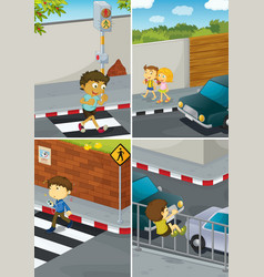 Road crossing vector