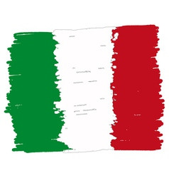 Flag of italy handmade vector