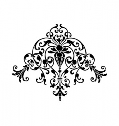 Stencil ornament vector