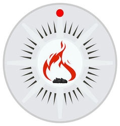 Sensor security and fire alarms vector