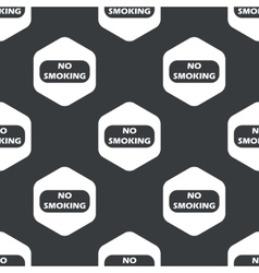 Black hexagon no smoking pattern vector