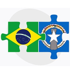 Brazil and northern mariana islands vector