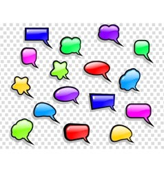 Shiny speech bubbles set vector