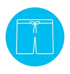 Swimming trunks line icon vector