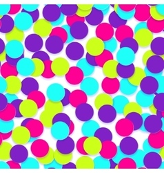 Seamless pattern with colorful confetti vector