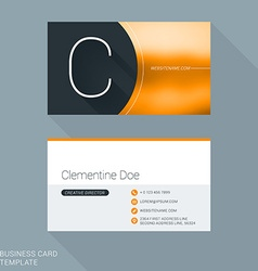 Creative business card template letter c flat vector