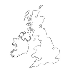 Map britain vector