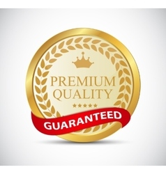 Gold premium quality label vector