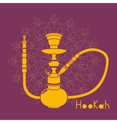 Hookah isolated on white background vector