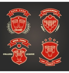 Beer pong signs vector image