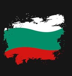 Bulgaria Flag grunge style on black background vector image