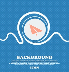 Paper airplane icon sign blue and white abstract vector