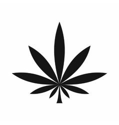 Cannabis leaf icon simple style vector