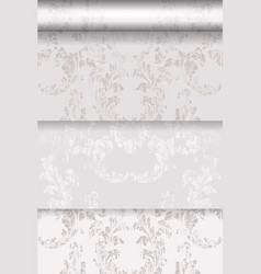 baroque pattern trendy color texture set vector image