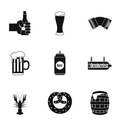 Beer icons set simple style vector image