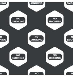 Black hexagon no smoking pattern vector
