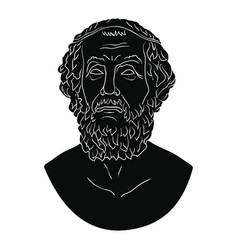 Bust of the greek poet homer vector