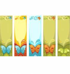 Butterfly banner vector