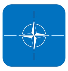 Button with flag of NATO vector image