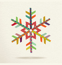 Christmas snow in colorful geometric art style vector image