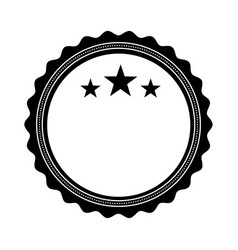 circle seal stamp with stars vector image