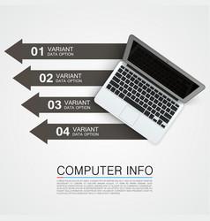 computer info banner art creative vector image