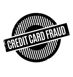 Credit card fraud rubber stamp vector
