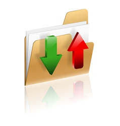 Download and upload folder icon vector