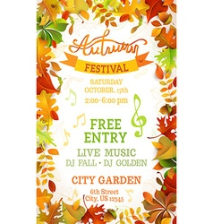 Fall Festival template vector image vector image
