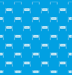 Finish line gates pattern seamless blue vector