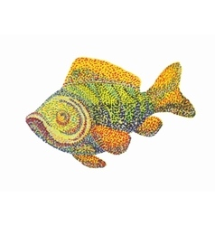 Fish on white background vector