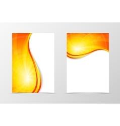 Flyer template vortex design vector image vector image