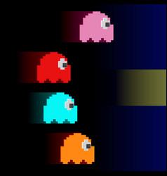 ghosts monster racing vector image