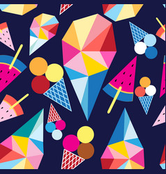 graphic pattern of different ice cream vector image