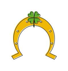 lucky horseshoe symbol vector image