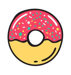 modern flat geometric donut vector image vector image