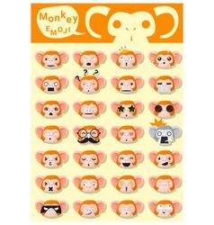 Monkey emoji icons vector image vector image